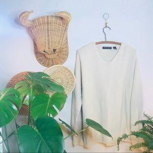 vtg oversized chunky knit boyfriend sweater